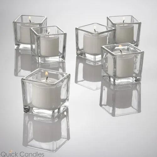 Square Glass Tealight Holders