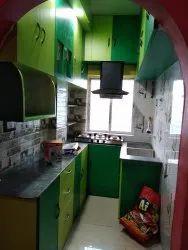 Modern Mini Modular Kitchen, Work Provided: Wood Work & Furniture