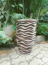 FRP Waves Garden Planters