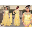 Chanderi Silk Casual Wedding Wear Designer Anarkali Suit