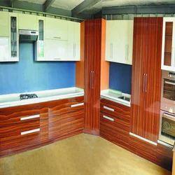 Stylish Wooden Modular Kitchen