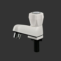 Polo Plast Deck Mounted PVC Pillar Bib Cock, For Bathroom Fitting, Packaging Type: 100 Pcs Master Box Packing