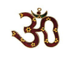Gold Plated Om Wall Hanging