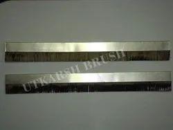 anti static metal channel strip brush