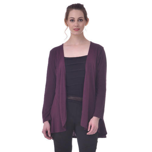 dark purple plus size outerwear shrug at rs 399 /piece | ladies