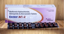 Metformin 500 Mg,Glimepiride 2 Mg & Atorvastatin 10 Mg