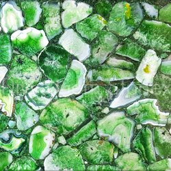Crystal Green Agate Slab