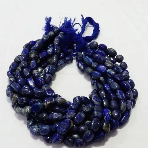 Lapis Lazuli Smooth Tumble Stone Beads