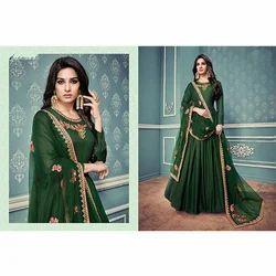 Dark Green Anarkali Suit