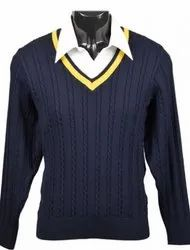 Pullover Navy Blue Acrylic Sweater