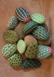 RM Painted 11 Rock Set For Indoor Outdoor Decoration