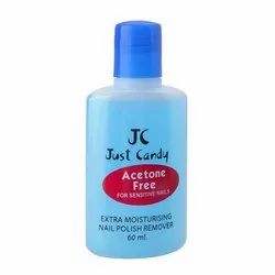 Just Candy Acetone Free Nail Polish Remover, For Parlour, Packaging Size: 60 Ml