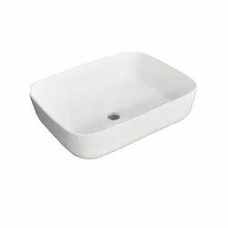 White Ceramic Counter Wash Basin