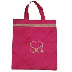 Handled Art Silk Thamboolam Bag for Wedding Return Gifts