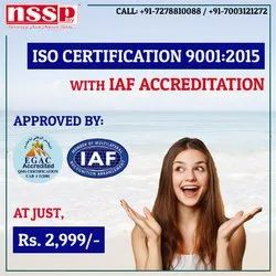 ISO 9001-2015 Quality Management Certification Service