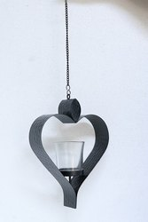 Black Iron Hanging Candle Holder., For Decorative