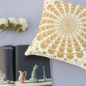 Indian Cotton Yellow Embroidery Home Decor Decorative Sofa Chair Cushion Cover