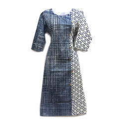 44 Inch - 46 Inch Available In 1 Color Denim Cotton Dress Material