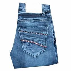 Ladies Cotton Plain Stretchable Jeans, Size: 28 and 30