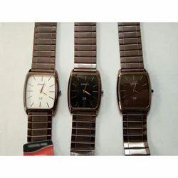 Crony Designer Black Tone Chain Wrist Watch
