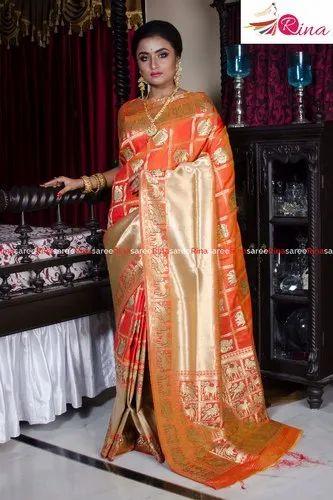 Paithani Check Mahapar Saree