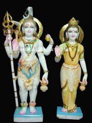 Shiva Parvati Standing Statue