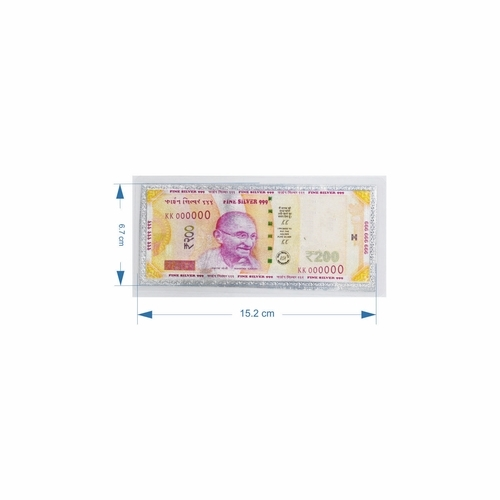 200 Rupees Pure Silver Note