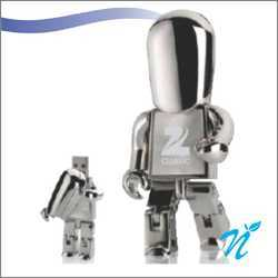 Metal Robot Shaped Pen Drive