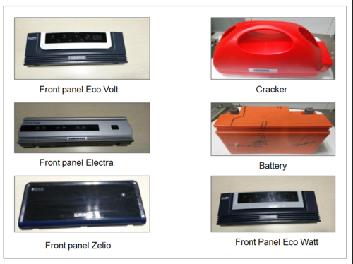 Plastic Injection Molding Parts - Inverter and Batteries - K Three