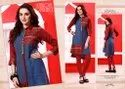 Straight Multicolor Fancy Printed Short Kurti