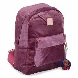 Crya Velvet Wonder Pink Shoulder Backpack