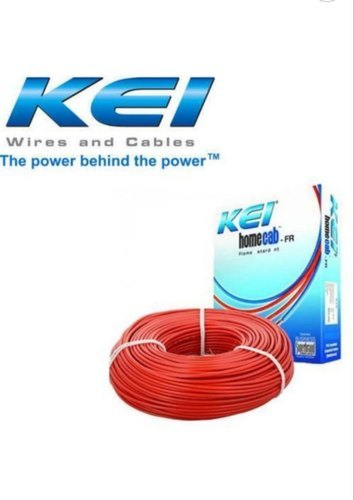 Kei House Wire - Fr 1.0 Sq Mm Single Core Copper PVC Insulated Wire, Size: 90/180/200/300 Meter Rolls