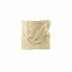 White Plain Cotton Shoulder Bags