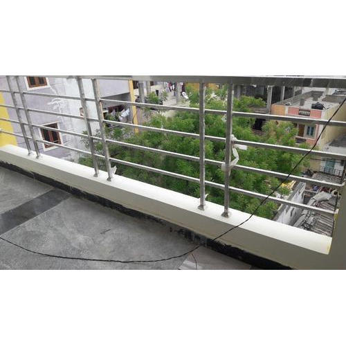 Silver Stainless Steel Balcony Railings, Rs 550 /square ...