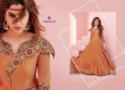 Satin Party Wear Arihant Designer Embroidery Kurtis