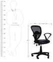 Low Back Chair in Black Colour