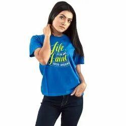 Blue Cotton T-Shirts