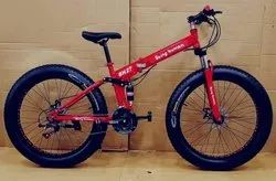 Being Human Red Fat Tyre Foldable Cycle