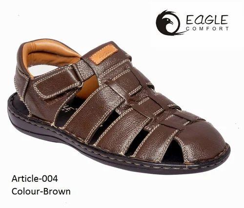 49318943d46 Eagle comfort Men  s Casual Leather Sandal