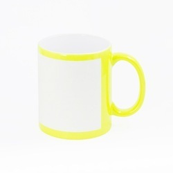 Ceramic Round Sublimation Patch Mug, Size/Dimension: 4inche