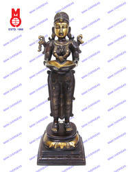 Deep Laxmi Standing On Double Base Statues