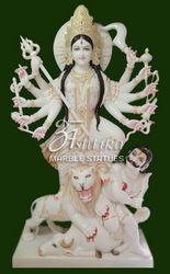 Marble Maa Mahisasuri Mata Statue