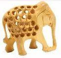 Wooden Elephant ( L 6.50 Cm X H 6.00 Cm ), For Home Decor