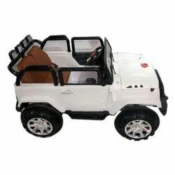 White Electric Kids Car