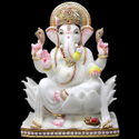 Multicolor Marble Ganesh Statue