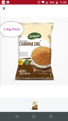 Moong Yellow Chana Dal, Pan India, Packaging Size: 1 Kg