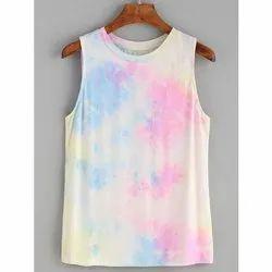 Girls Rainbow Tank Tie Dyed Top