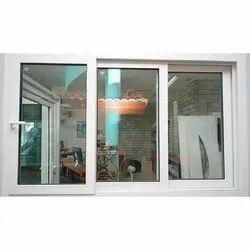 Aluminium Polished Three Panel Sliding Window