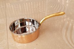 Fry Pan Mirror Finish Copper Tea Pan Pot for Kitchen, Size: 2*4.5 Inch