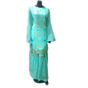Ladies Rayon Embroidered Pakistani Gharara Suit
